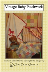 "Create your own handmade ""heirlooms of tomorrow"" for the little ones in your life with this vintage patchwork quilt, ""blankie"" size patchwork quilt, receing blanket and diaper bag!"