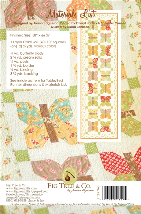 Quilt Pattern ~ PAINTED LADIES ~ by Fig Tree Quilt Designs