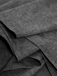 Black Crossweave Fabric