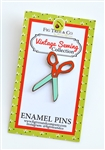 Enamel Pin: Retro Scissors