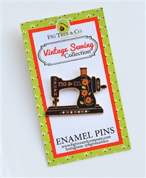 Enamel Pin: Vintage Sewing Machine