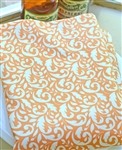 Orange Swirl Backing