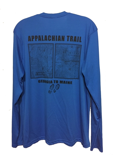 the best attitude b5dad 33615 Springer and Katahdin Topo Map Long Sleeve Shirt