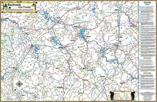 Backroads Less Traveled Map North East Georgia Maps Books And Maps