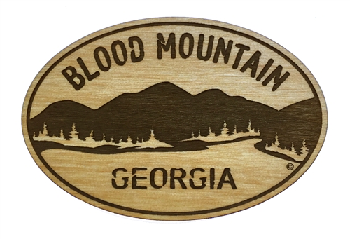 blood mountain wooden magnet magnets trail gifts