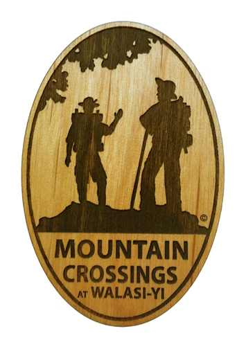 mountain crossings wooden magnet magnets trail gifts