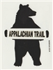 Bear With The Appalachian Trail Sticker