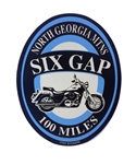 Six Gap Motorcycle Ride Sticker