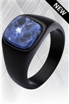 Black Sodalite Signet Ring