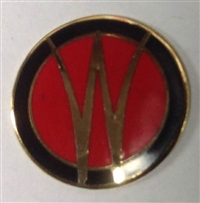 "Hood Ornament 3 Wing with ""W"" Insert Only"