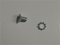 Lock Mechanism to Door Slotted Screw with Lock Washer