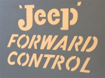 """Jeep Forward Control 4 Wheel Drive"" Stencil"