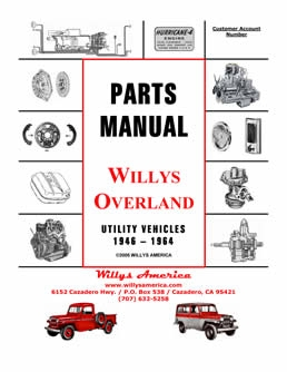 Willys America Parts Manual & Restoration Guide
