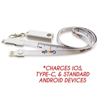3-in-1 Measuring Lanyard Charging Cable