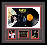 Elvis Presley Aloha From Hawaii Vinyl Album Collage Frm.