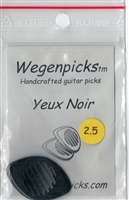 "Wegen ""Yeux Noir"" Guitar Pick (2.5mm) (BLACK)"