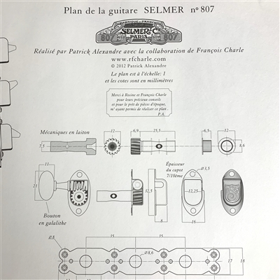 "SELMER Guitar Plans â""– 807 by Francois Charle and Patrick Alexandre"
