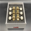 "Schaller GrandTune ""Hauser"" Gold/Oval Galalith Buttons"