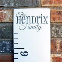 this addon vinyl phrase decal completes your growth chart ruler perfectly