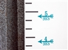 Height Markers - Vinyl Decal Arrow with Feather