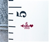 Height Markers - Vinyl Decal Arrow with Heart