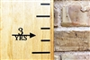 Height Markers - Vinyl Decal Arrow with Years - RIGHT facing