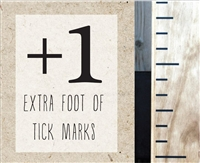 one extra foot diy growth chart