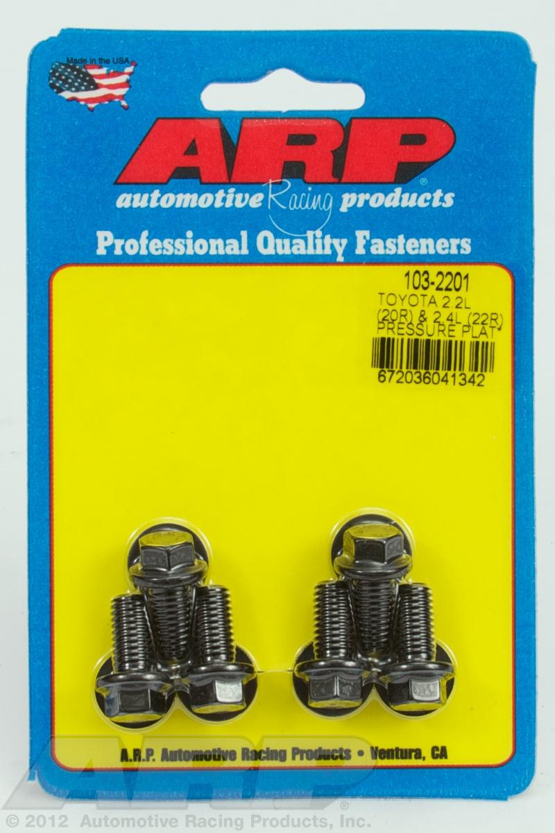 /& 2.4L ARP FOR Toyota 2.2L pressure plate bolt kit 20R 22R