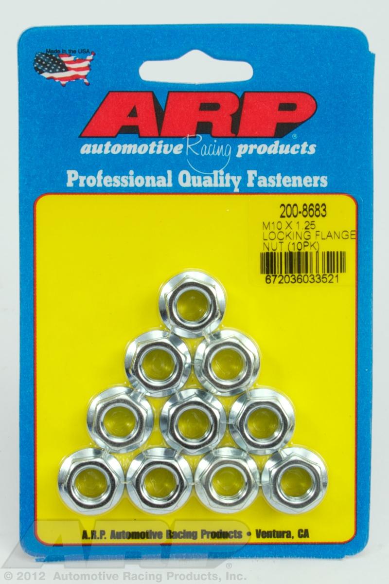 Arp 200-8683 M10 X 1.25 locking flange nut kit