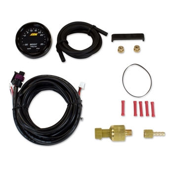 AEM X-Series Digital Boost Pressure Gauge Kit, -30 to 35 PSI/-1 to 2.5 BAR
