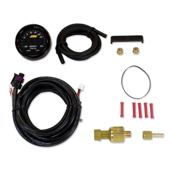 AEM X-Series Digital Boost Pressure Gauge Kit, -30 to 60 PSI/-1 to 4 BAR