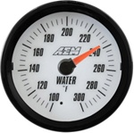 AEM Analog Coolant/Water Temperature Display Gauge (100°F to 300°F) - White Face
