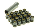 Muteki Open-Ended Lightweight Lug Nuts in Black - 12x1.25mm