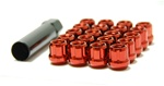 Muteki Open-Ended Lightweight Lug Nuts in Red - 12x1.25mm