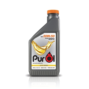PurÖl Elite Synthetic Motor Oil 20W50, 1-Liter Bottle