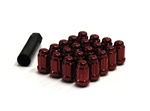 Muteki Closed-Ended Lightweight Lug Nuts in Red - 12x1.50mm