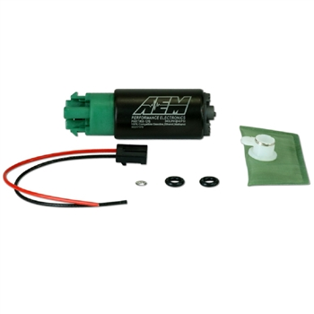 AEM High Flow 320LPH E85 In-Tank Fuel Pump Offset Inlet, Inline Outlet (65mm w/ hooks)