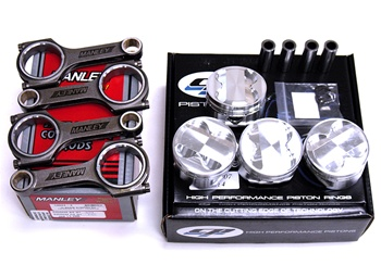 CP Pistons / Manley H-Beam Connecting Rods Package - Nissan SR20DET