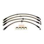 Boombop Braided Stainless Steel Brake Lines for 2004-2007 Subaru Impreza STI - Clear