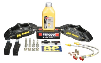 "AP Racing Formula 4-Piston Big Brake Kit for the 1992-2002 Nissan Skyline R33/R34 GT-R (OE 17"" WHEEL) - 330mm Rear"