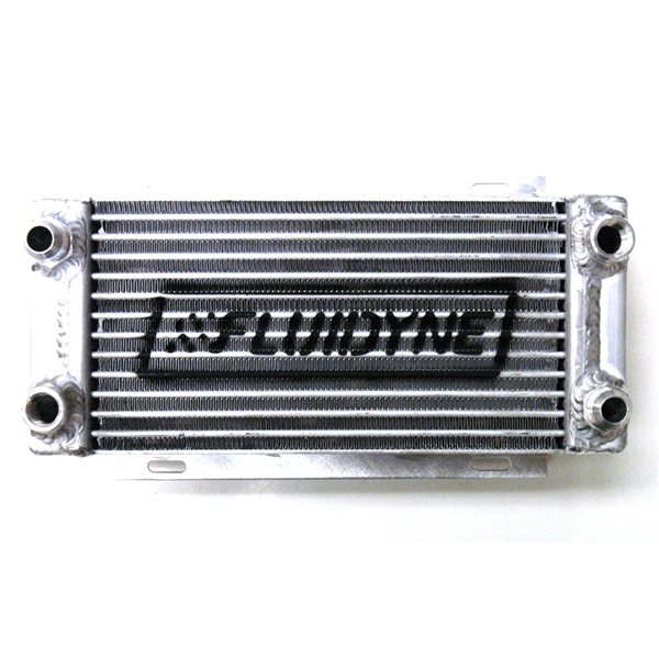 Fluidyne Therm-Hx Oval Tube Engine Oil Cooler - Late Model 400 w/ (2) AN-12  & (2) 1/2
