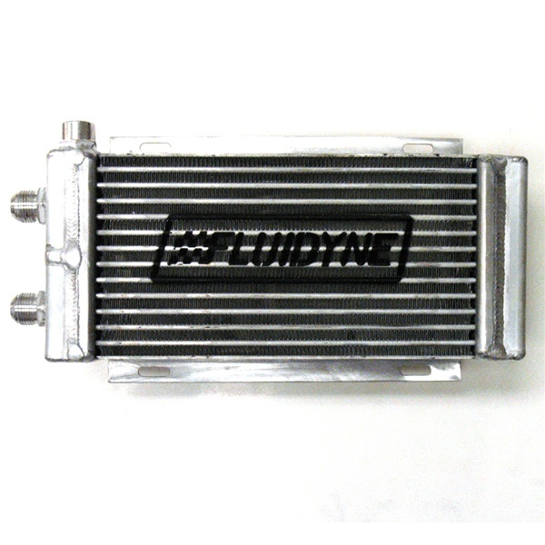 Fluidyne Therm-Hx Oval Tube Engine Oil Cooler - Late Model 400 w/ (2) AN-12  & (1) 1/2 FNPT (2 pass)