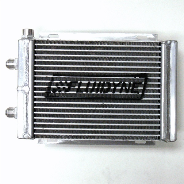 Fluidyne Therm-Hx Oval Tube Engine Oil Cooler - All Pro 600 w/ (2) AN-12 &  (1) 1/2