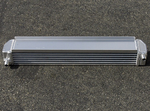 Fluidyne Therm-Hx Oval Tube Air to Oil Engine Oil Cooler - 25-inch wide