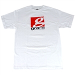 Grams Performance Classic Logo T- Shirt (White, Medium)