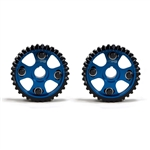 Golden Eagle Billet Adjustable Cam Gears Set for 1990-2001 Honda/Acura B16, B17A, B18A-C, H23A1, Blue