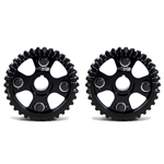 Golden Eagle Billet Adjustable Cam Gears Set for 1992-2001 Honda H22A1/H22A4/F20B, Black