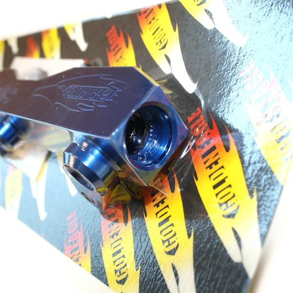 GOLDEN EAGLE BILLET FUEL RAIL FOR 92-01 HONDA PRELUDE F22A H22A H23A BLUE