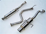 Invidia N1 Catback Exhaust 94-01 Acura Integra LS/RS/GS/Type-R, 99-01 GS-R, Coupe Only, Single Stainless Tip