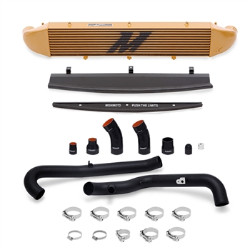 Mishimoto Front Mount Intercooler Kit for 2014-2016 Ford Fiesta ST, Wrinkle Black Piping/Gold IC